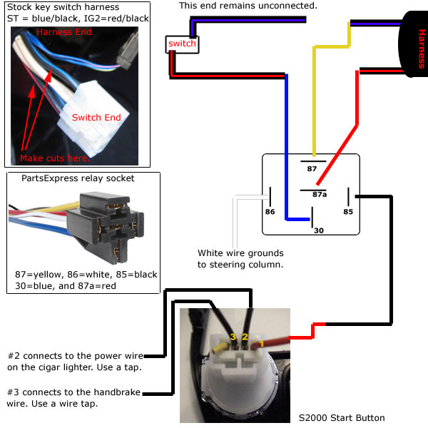 revlimiter - s2000 starter button (90-97 version), Wiring diagram